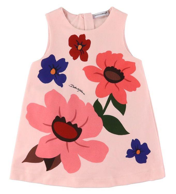 Dolce & Gabbana Kjole m. Bloomers - DG Pop - Rosa m. Blomster