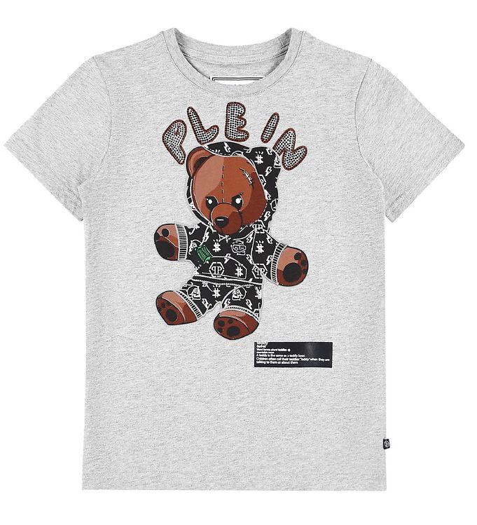 Image of Philipp Plein T-Shirt - Teddy Bear - Gråmeleret m. Similisten (EB106)