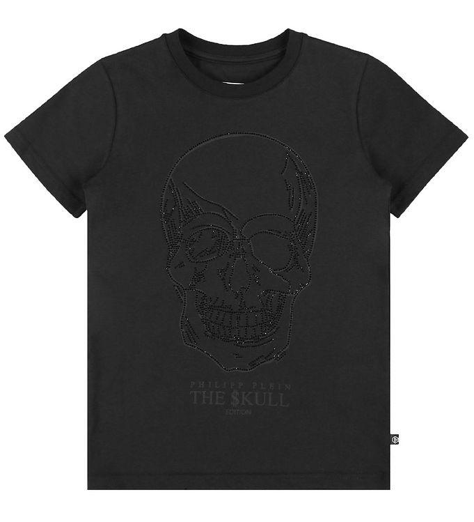 Image of Philipp Plein T-Shirt - Stones Skull - Sort m. Similisten (EB107)
