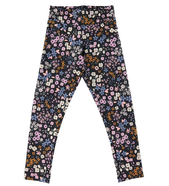 Cost:Bart Cost:Bart Leggings - Genia - China Blue m. Blomster