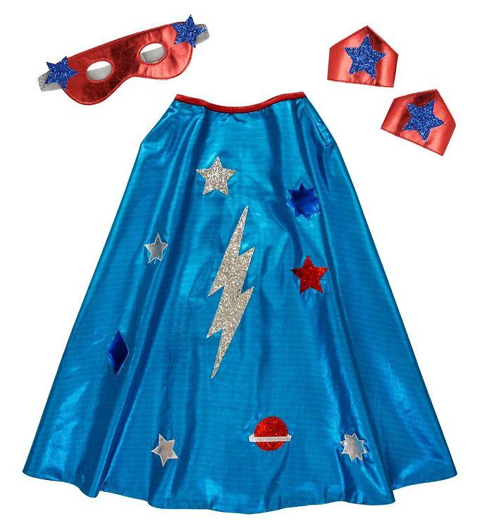 Image of Meri Meri Udklædning - Kappe, Maske og Armbånd - Blue Superhero (EB322)