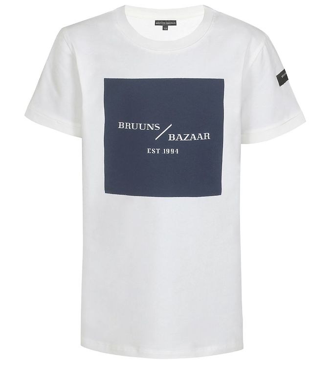 Image of Bruuns Bazaar T-shirt - Karl-Oskar - Off-White m. Print (EB717)