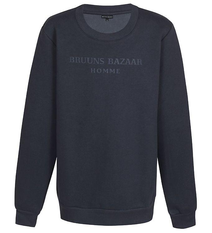 Image of Bruuns Bazaar Sweatshirt - Erik-Emil - India Ink (EB718)