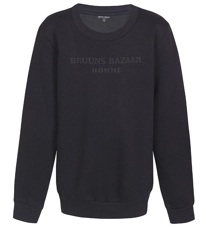 Image of Bruuns Bazaar Sweatshirt - Erik-Emil - Sort (EB719)