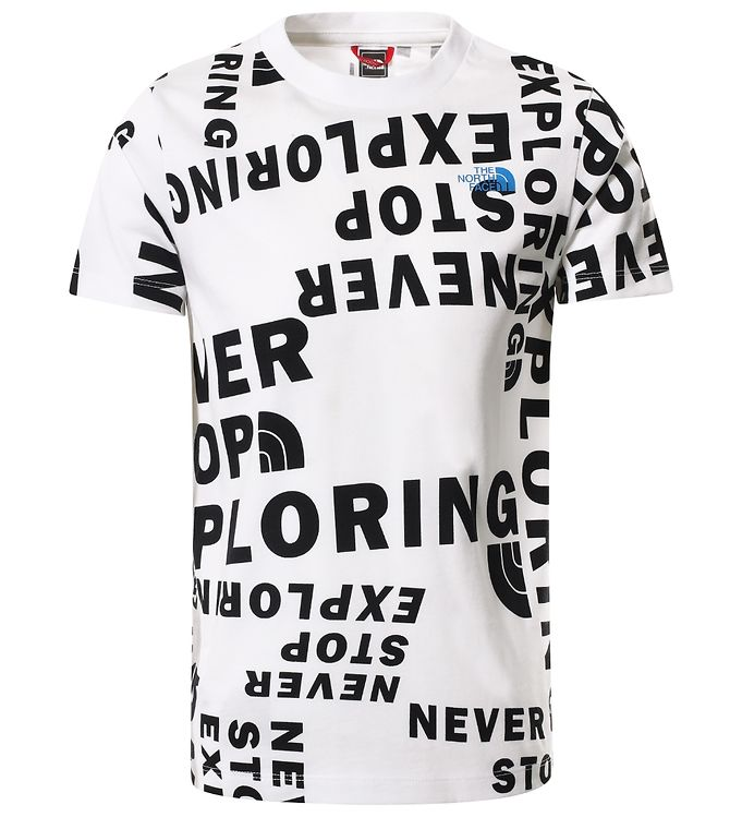 Image of The North Face T-shirt - Simple Dome - White Tagline (EB737)