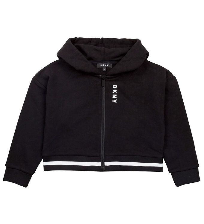 Image of DKNY Cardigan - Cropped - Sort m. Patch (EC742)