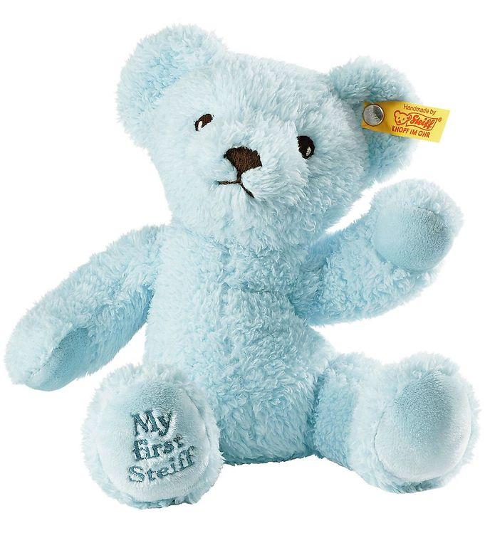 Image of Steiff Bamse - My First Steiff Teddybear - 26 cm - Blå (EC800)