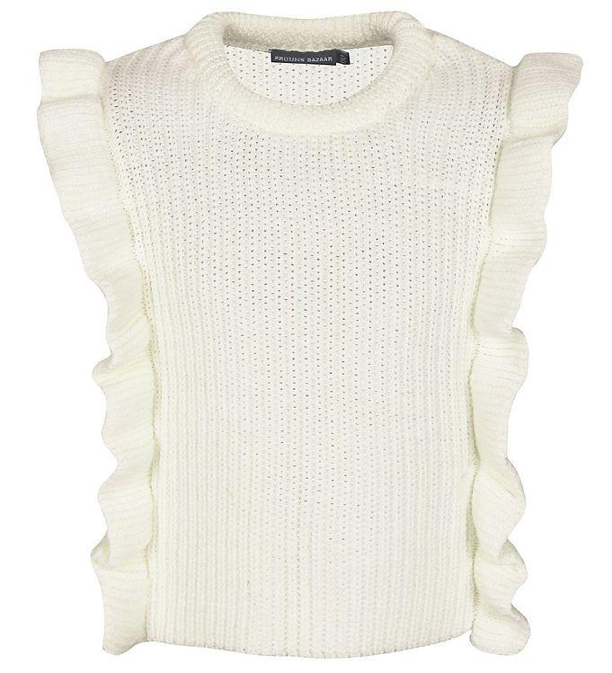 Image of Bruuns Bazaar Bluse - Strik - Marie Louise - Off White (EC920)
