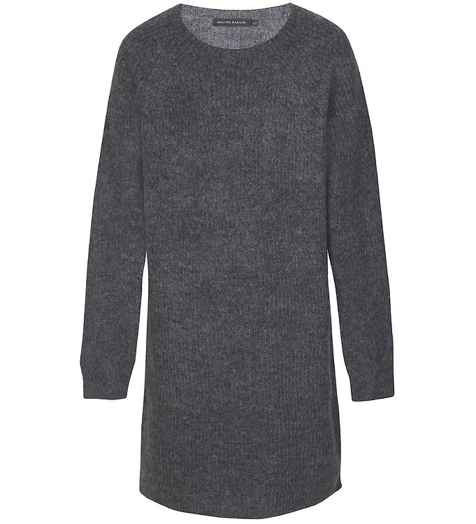 Image of Bruuns Bazaar Bluse - Strik - Dagfrid - Semi Grey Melange (EC925)
