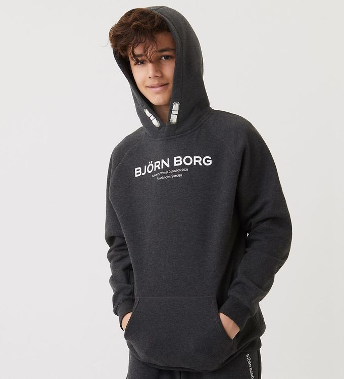 Image of Björn Borg Hættetrøje - Sthlm - Meleret Antracitgrå (ED017)