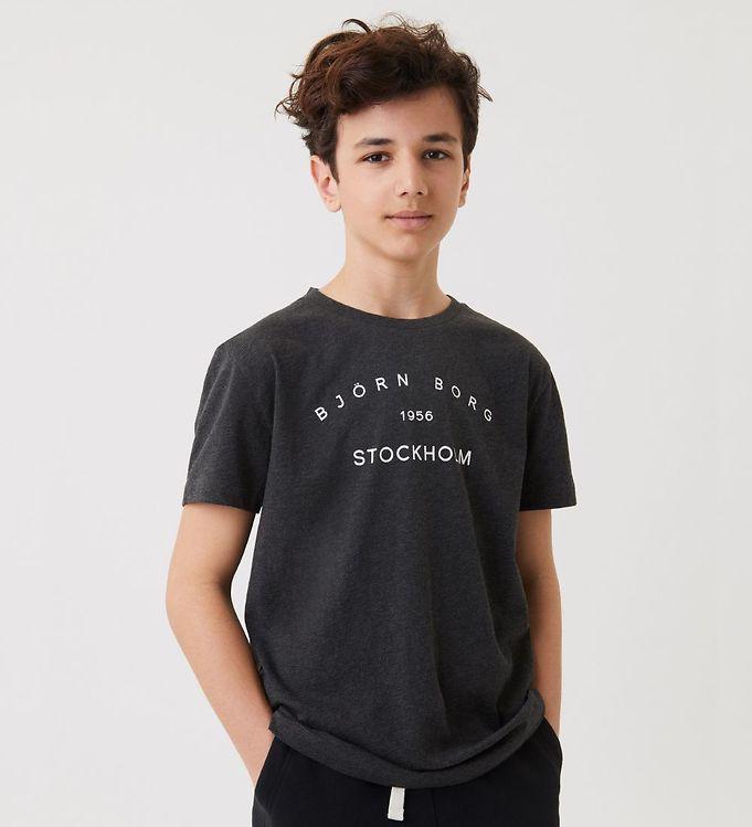 Image of Björn Borg T-Shirt - Sthlm - Antracite Melange (ED021)