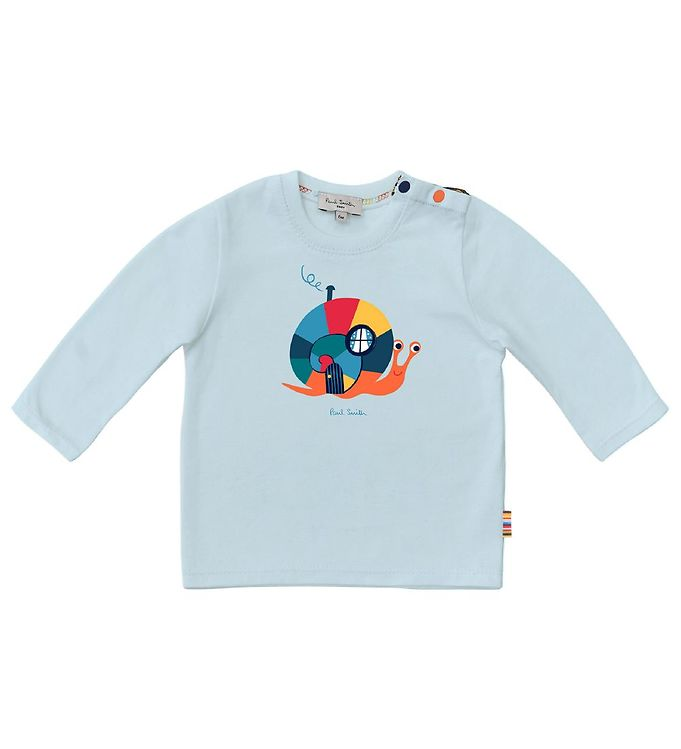 Image of Paul Smith Baby Bluse - Lyseblå m. Snegl (ED360)