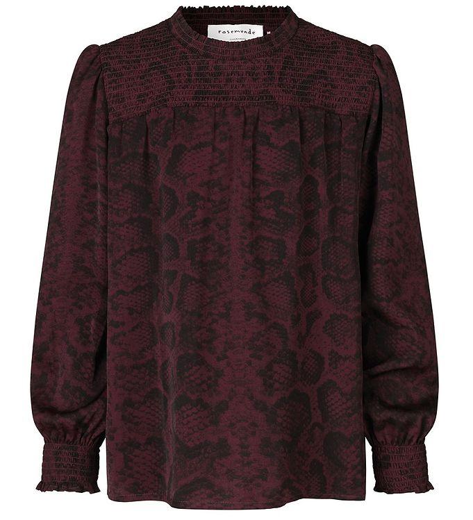 Image of Rosemunde Bluse - Recycled Polyester - Merlot Snake Print (ED381)