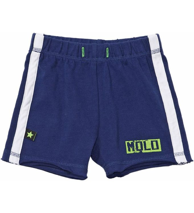 Image of Molo Shorts - Marineblå m. Neongrøn (HE542)