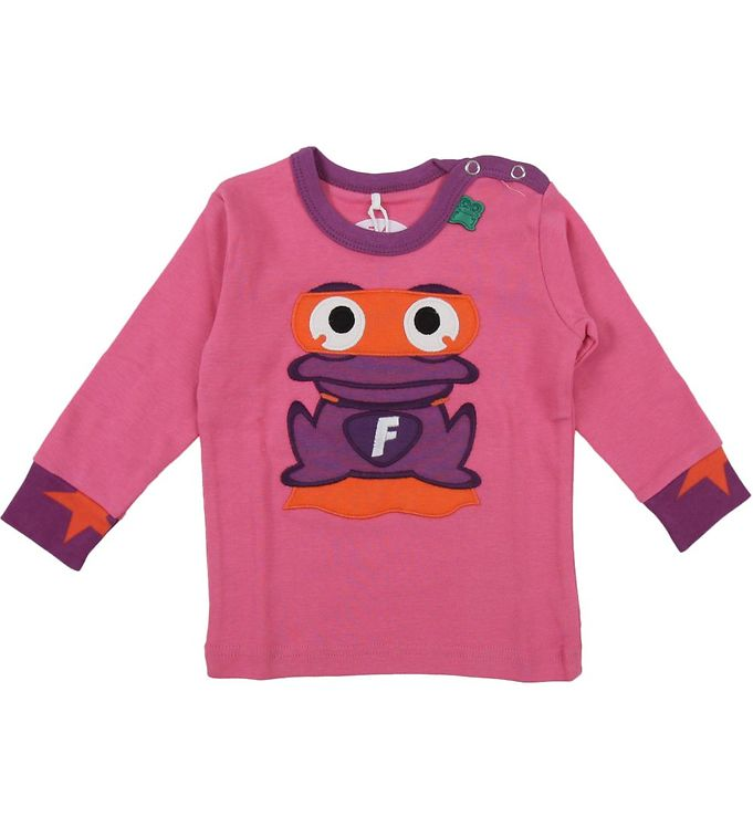 Image of Freds World Babybluse - Lys pink m. Front hero (HF008)