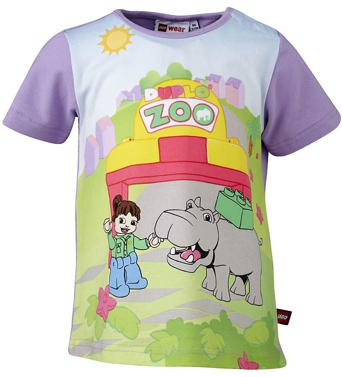 Image of Lego Duplo T-shirt - Lavendel m. Zoo (HI826)