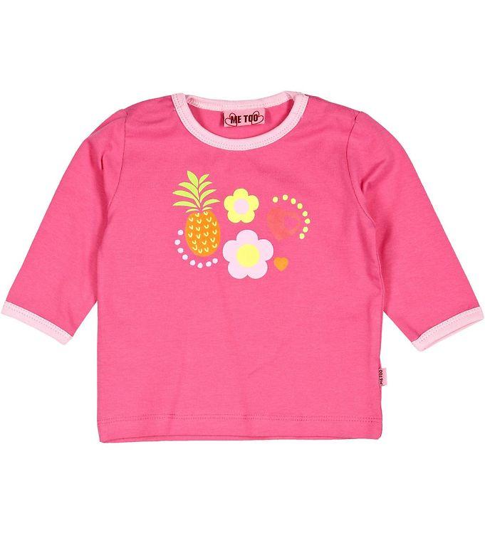 Billede af Me Too Bluse - Pink m. Frugt & blomster