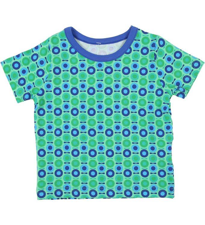 Billede af Katvig T-shirt - Grøn m. Mini multiæbler
