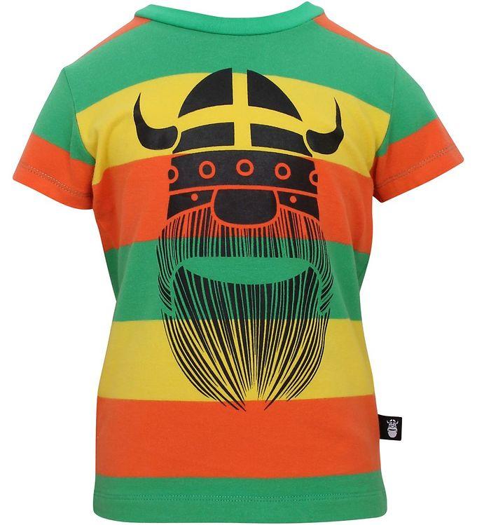 Billede af Danefæ T-shirt - Regnbuefarvet m. Viking