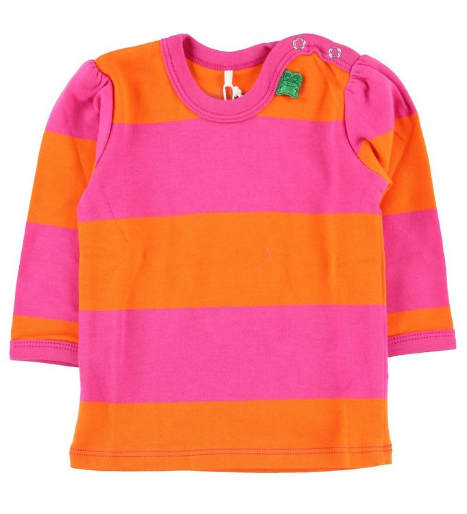 Image of Freds World Bluse - Orange/Pink stribet (HL243)