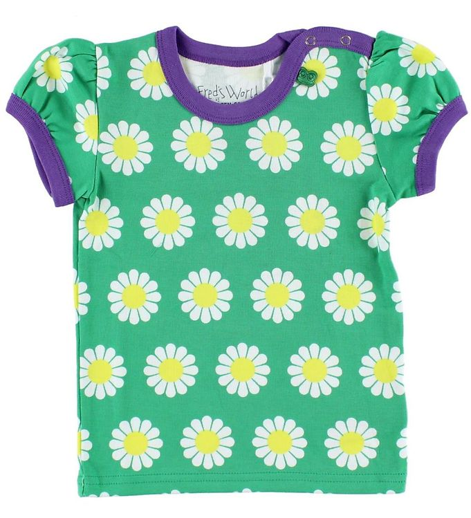 Image of Freds World T-shirt - Grøn m. Daisy (HR099)