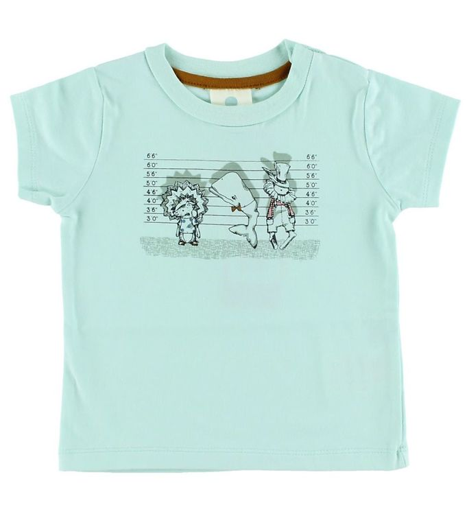 Image of En Fant T-shirt - Mint m. Print (HR132)