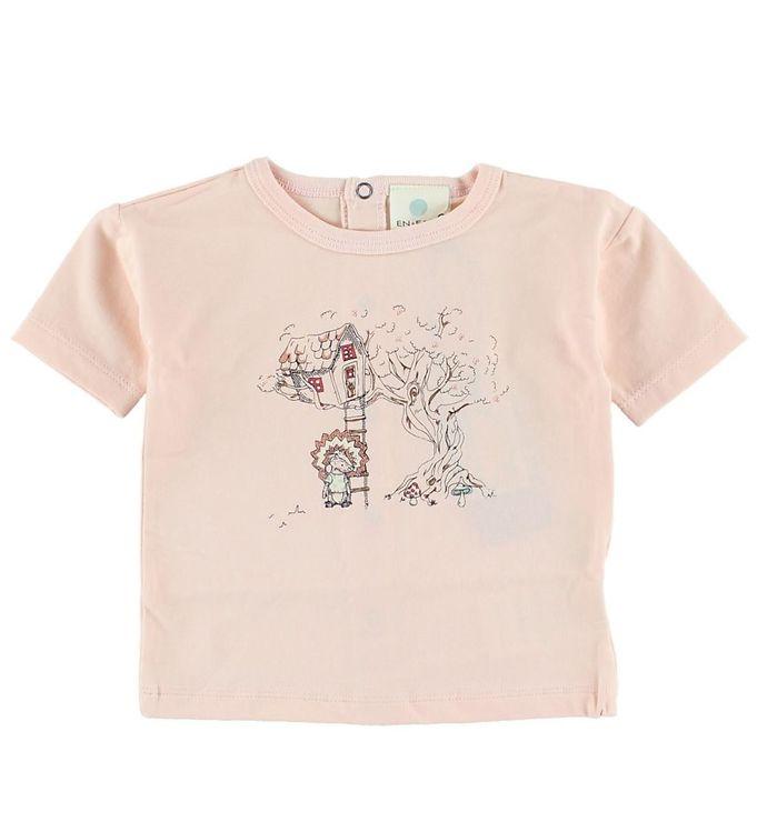 Image of En Fant T-shirt - Lys rosa m. Print (HR140)