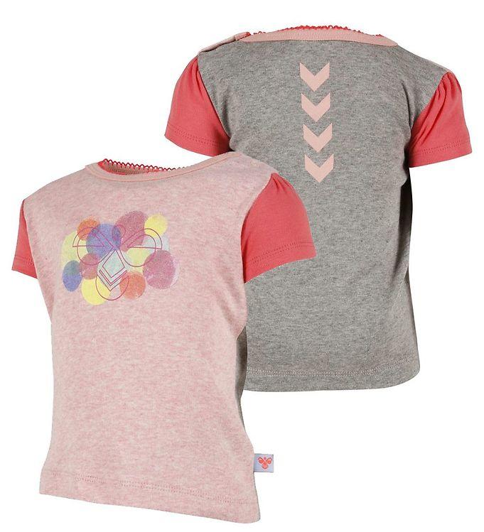 Image of Hummel T-shirt - Solvej - Grå/Rosameleret (HS709)
