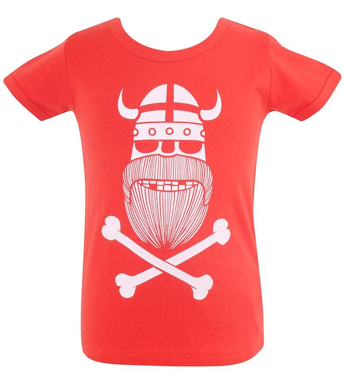 Image of Danefæ T-shirt - Rød m. Ghost of Erik (HT995)