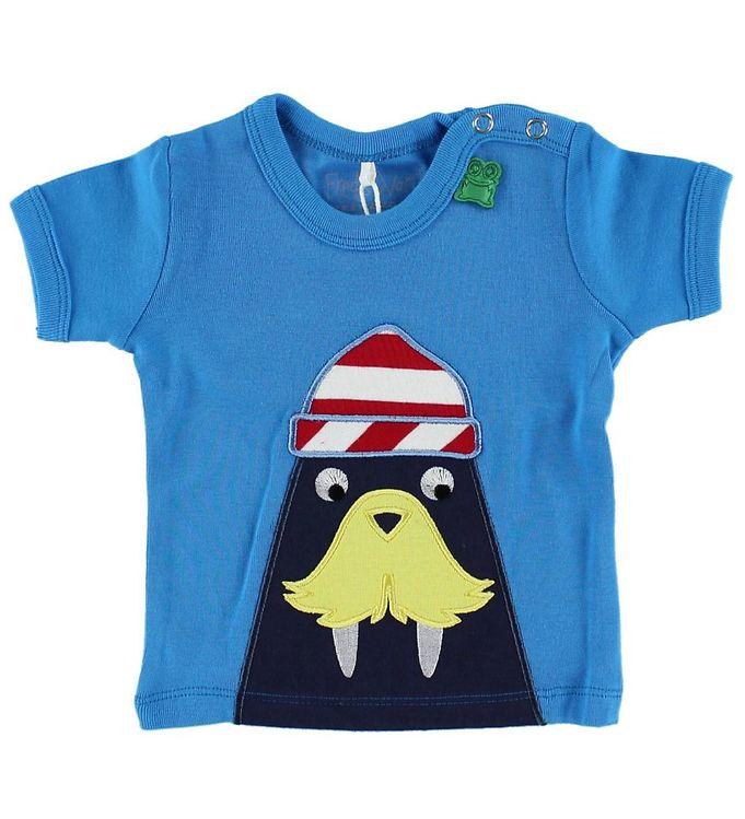 Billede af Freds World T-shirt - Lyseblå m. Hvalros