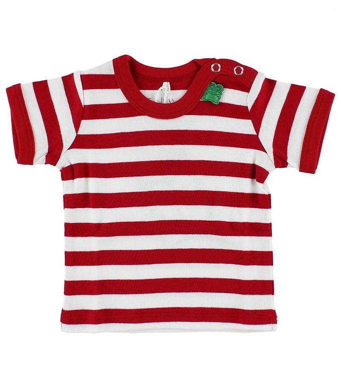 Billede af Freds World T-shirt - Rød/Hvidstribet