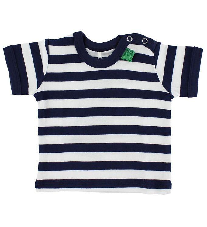 Image of Freds World T-shirt - Navy/Hvidstribet (HU071)