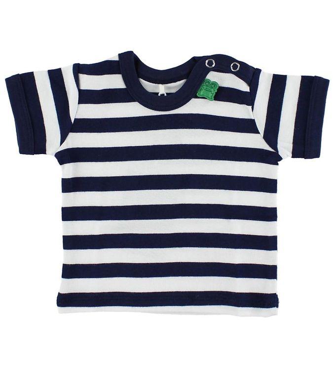 Billede af Freds World T-shirt - Navy/Hvidstribet