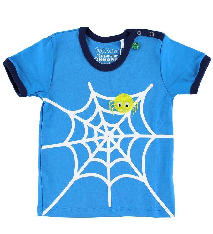 Billede af Freds World T-shirt - Lyseblå m. Edderkop