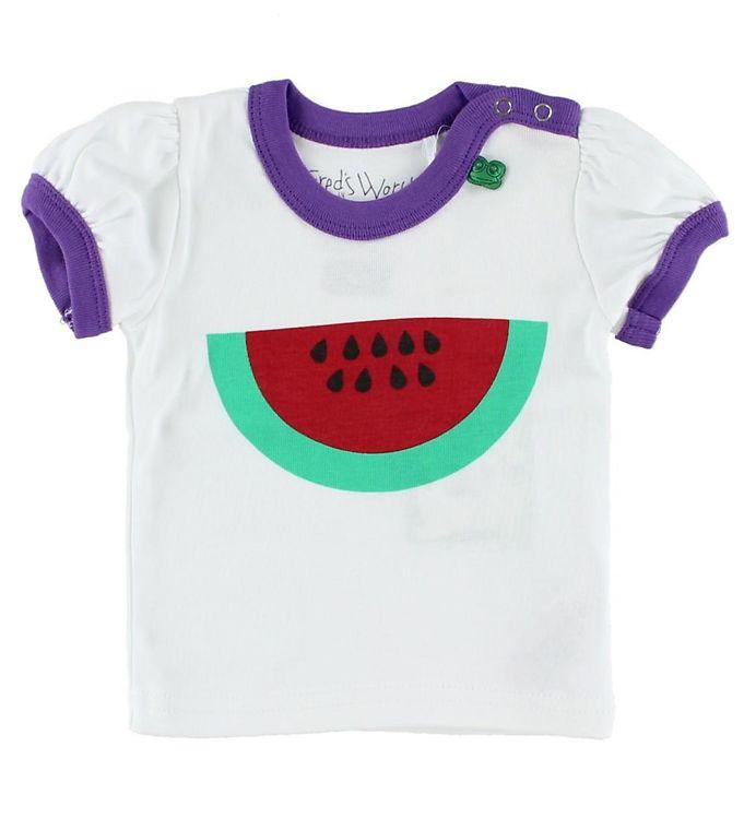 Billede af Freds World T-shirt - Hvid m. Vandmelon