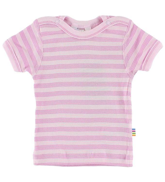 Joha T-shirt - Lyserød m. Striber
