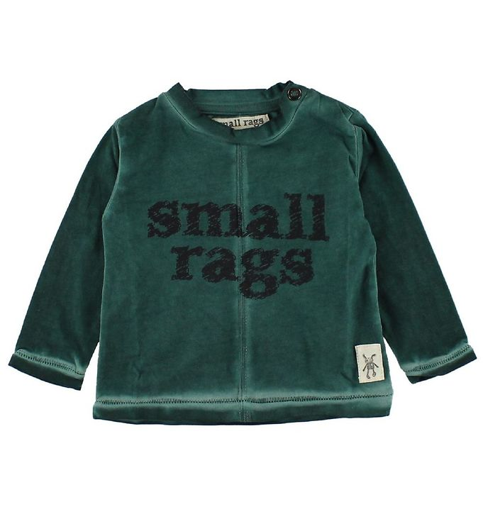 Image of   Small Rags Bluse - Grøn m. Tekst