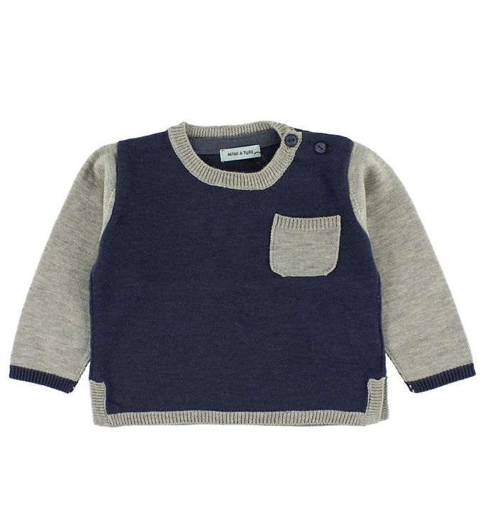 Image of Mini A Ture Bluse - Navy/Grå (HX874)