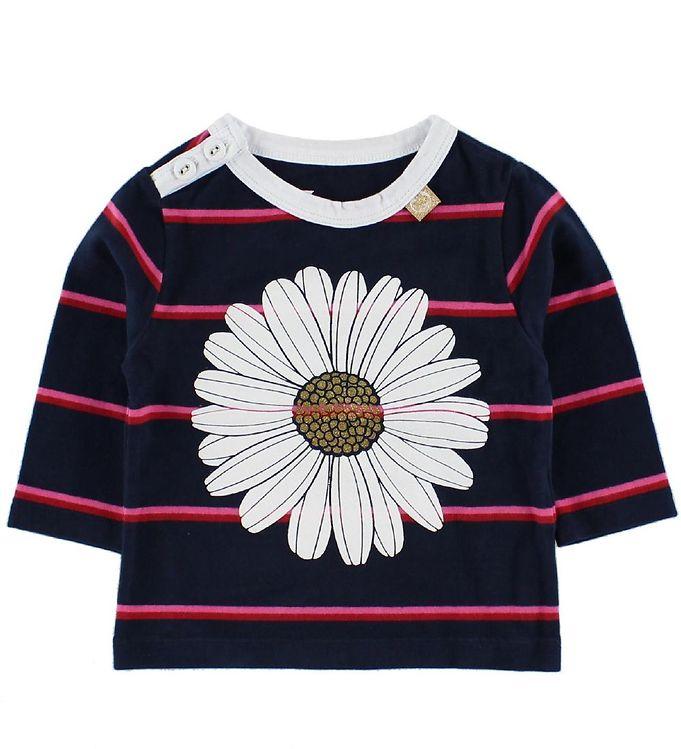 danefa-bluse-navy-pinkstribet-m-daisy