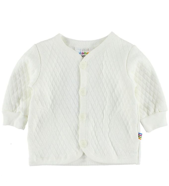 Image of Joha Quiltet Cardigan - Creme m. Lommer (IC344)