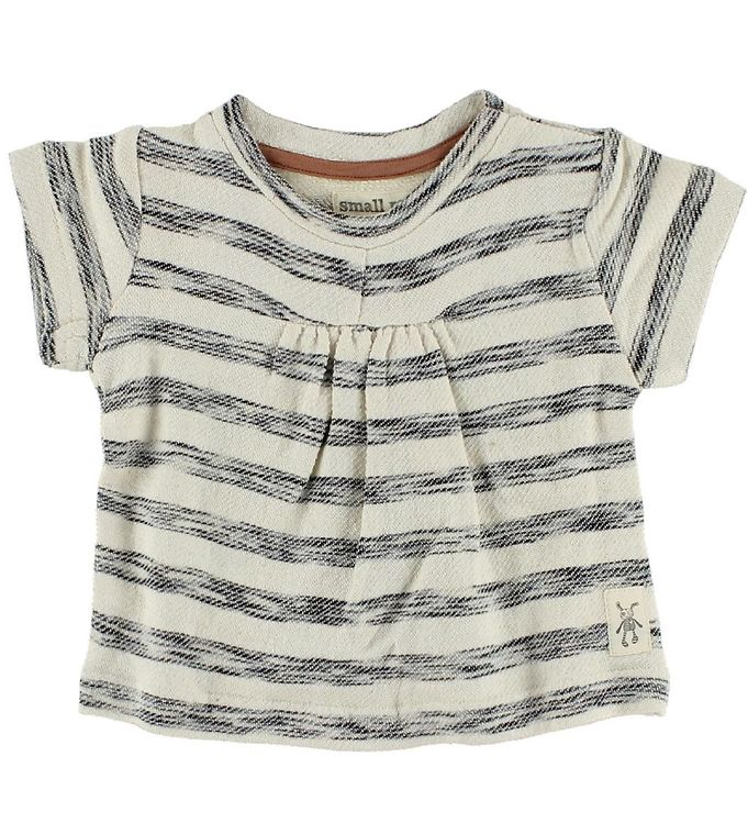 Image of Small Rags T-shirt - Creme/Gråstribet (IC435)