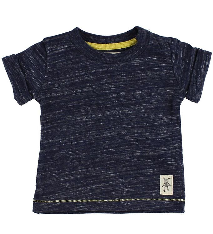 Image of Small Rags T-shirt - Navymeleret (IC442)
