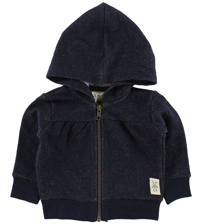 Image of Small Rags Cardigan m. Hætte - Navy m. Glimmer (IC453)