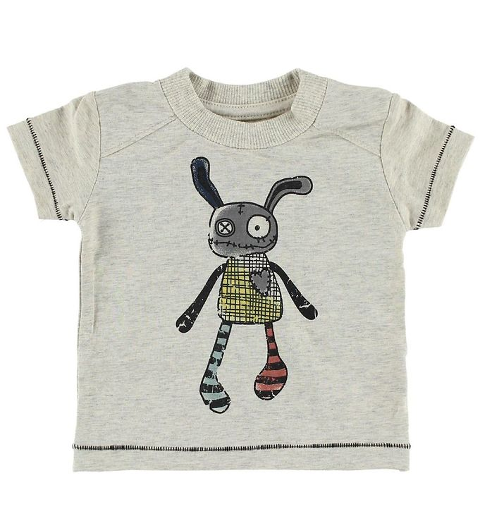 Image of Small Rags T-shirt - Crememeleret m. Mr. Rags (IC497)