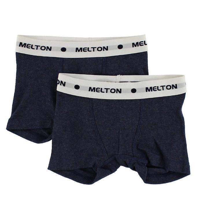 Melton Boxershorts 2-pak - Navy