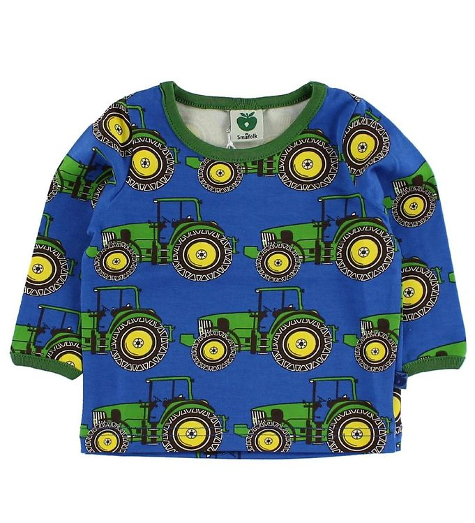 Småfolk Småfolk Bluse - Blå m. Traktor