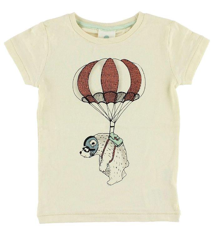 Image of En Fant T-shirt - Creme m. Isbjørn (IE350)