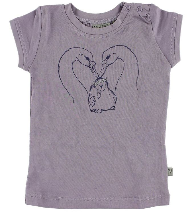 Image of Wheat T-shirt - Lilla m. Svaner (IF293)
