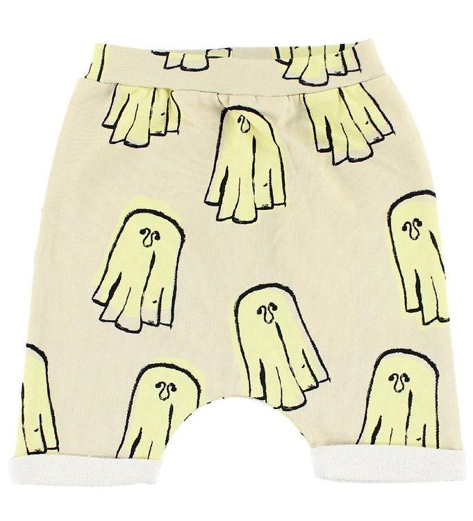 Image of Popupshop Baggy Shorts - Creme m. Spøgelser (IG592)