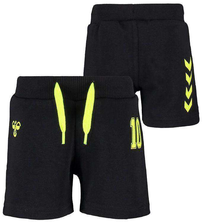 Image of Hummel Shorts - Safi - Sort/Gul m. Vinkler (IG605)